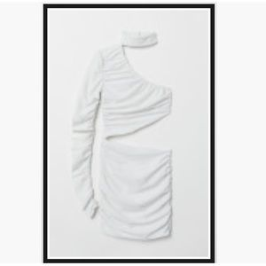 White bodycon mini dress